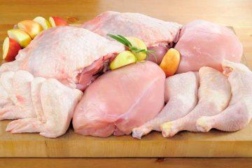 carne de frango crua picada
