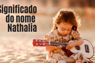 menina tocando violão - foto escrita significado do nome nathalia