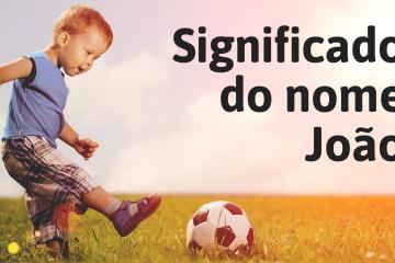 menino jogando bola- foto escrita significado do nome João