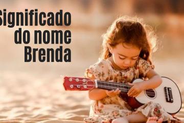 menina tocando violão foto escrita significado do nome Brenda