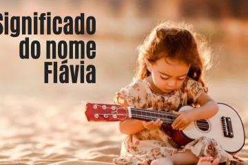 foto escrita significado do nome flávia