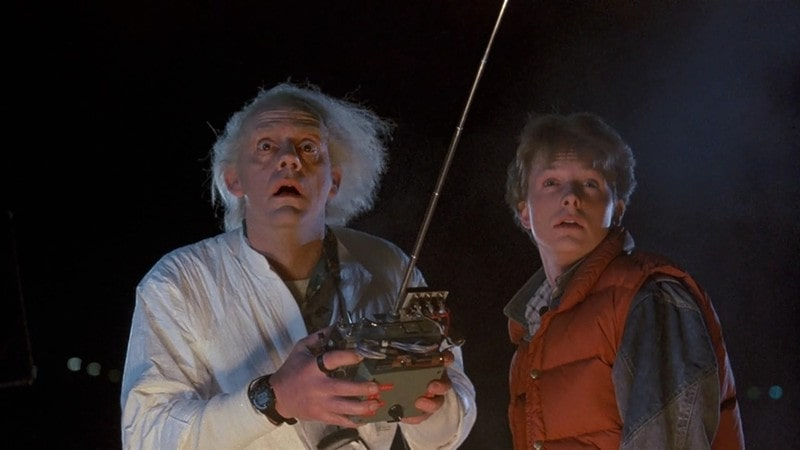 cena do filme de volta para o futuro do ano de 1985
