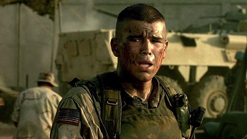 filme falcão negro - foto de um dos soldados