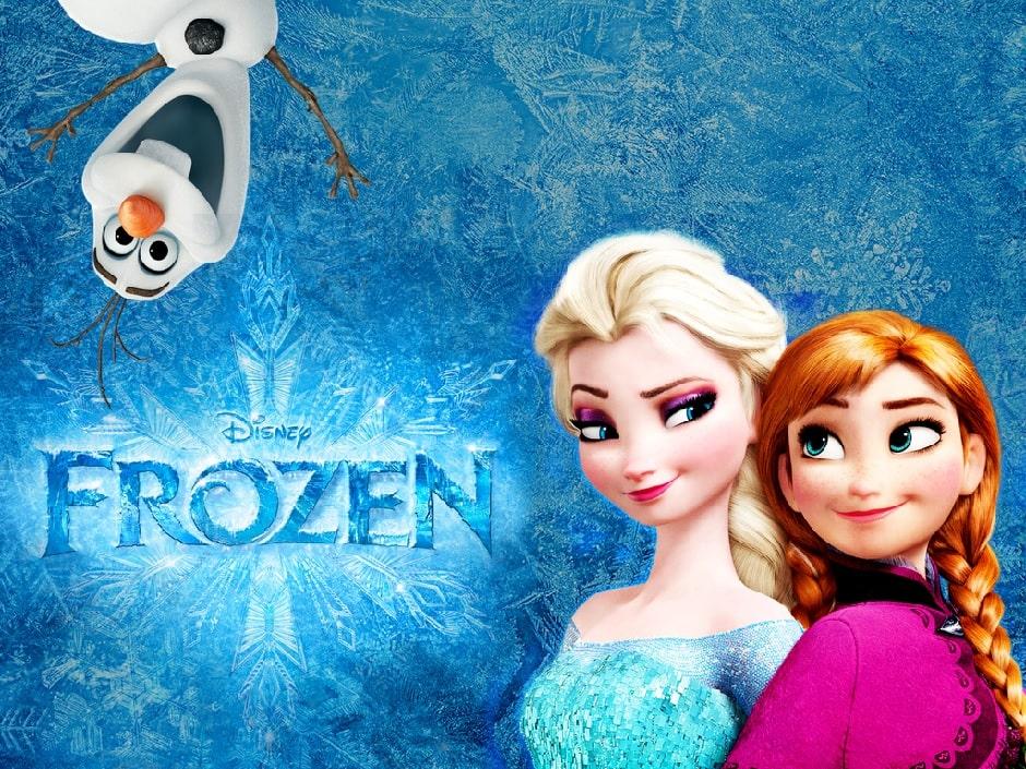 capa do filme frozen - uma aventura congelante - anna e elsa