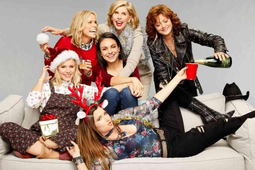mulheres do filme perfeita é a mãe 2 em clima natalino