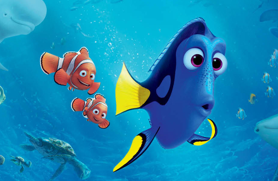 Filme procurando Dory - Com o Nemo e o Pai do Nemo