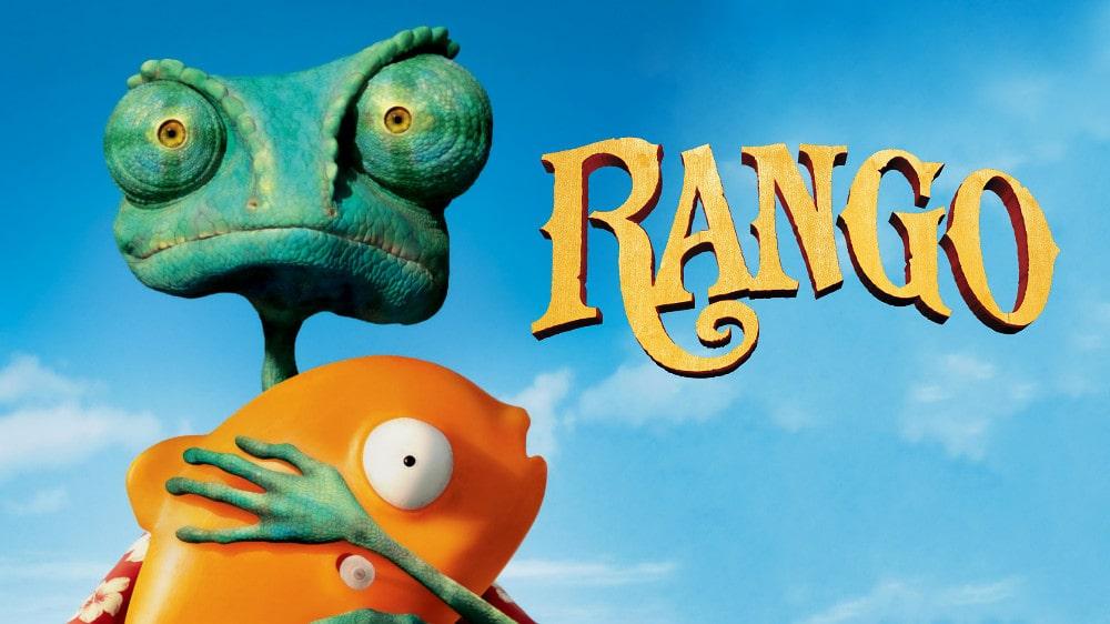 capa do filme rango - um filme desenho animado muito legal