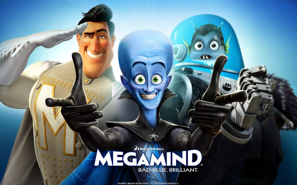 capa do filme megamente com os personagens principais