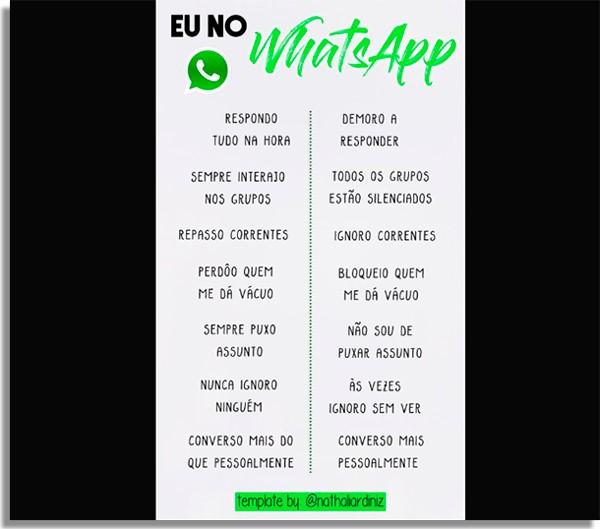 Quem é você no WhatsApp template