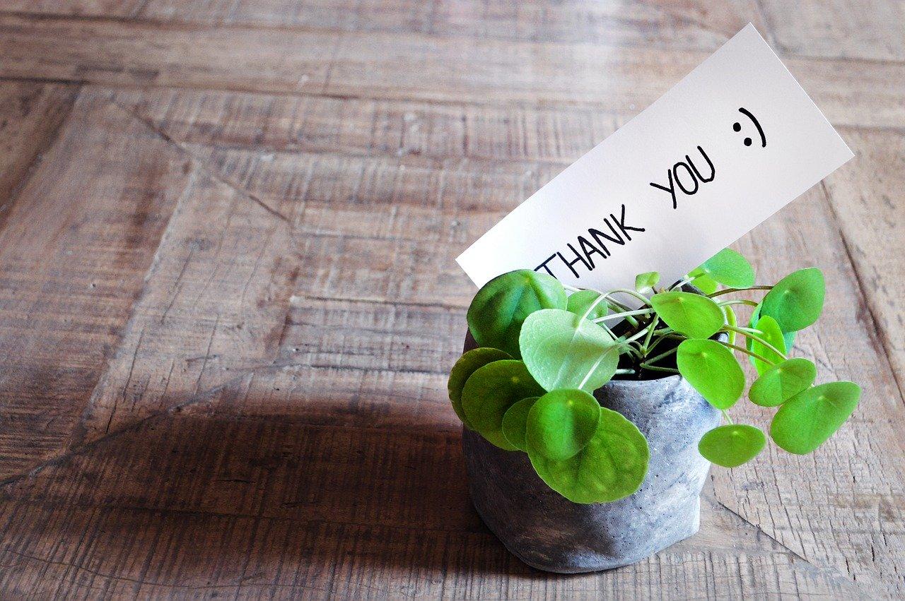 imagem representando agradecimento