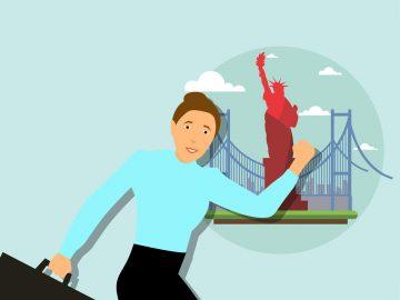 imagem representando uma pessoa indo viajar