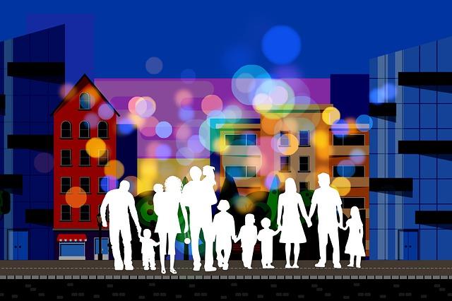 grande família reunida em uma imagem